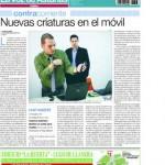 Imagine800 en contraportada de La voz de Asturias