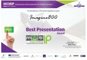 Diploma Ganadores Mejor presentación MOBIP